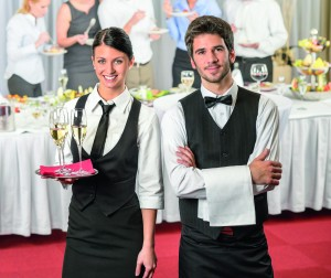 Catering service waiter, waitress business event